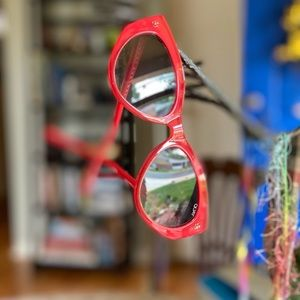 Quay Australia Red Cat Eye Sunglasses